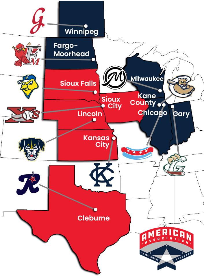 American Association 2021 Map V2